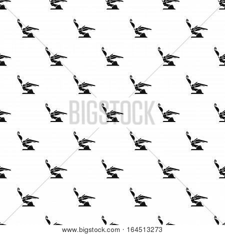 Dental chair pattern. Simple illustration of dental chair vector pattern for web