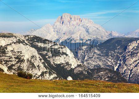 Grupo del Cristallo Dolomites Alps Mountains South Tirol Italy