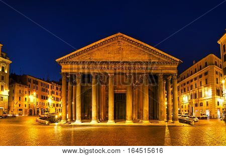 Pantheon at the Piazza della Rotonda in Rome Italy