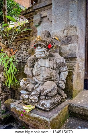 art ancient god statues with smile at Bali Indonesia