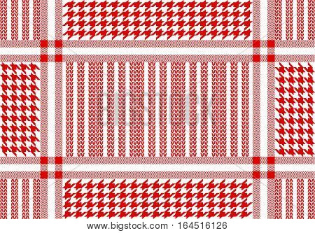 Simple checkered vector pattern with geometric motifs.