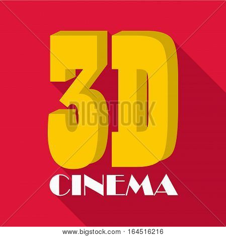 Cinema icon. Flat illustration of cinema vector icon for web