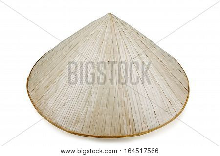 Vietnamese conical hat isolated on white, studio shot