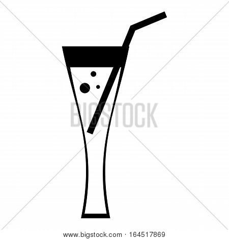 Cocktail icon. Simple illustration of cocktail vector icon for web