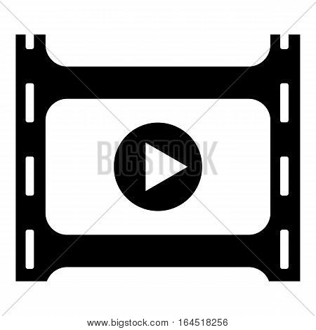 Play film icon. Simple illustration of play film vector icon for web