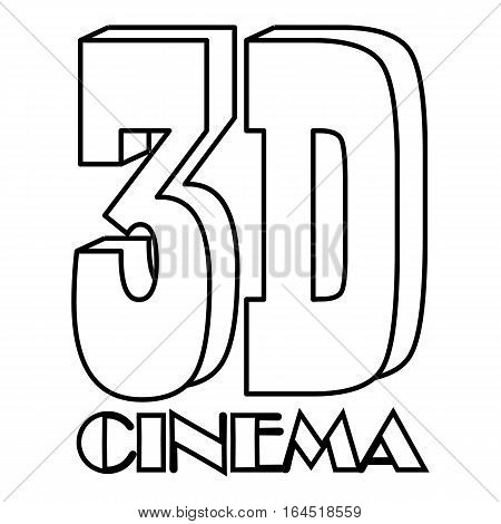 Cinema icon. Outline illustration of cinema vector icon for web