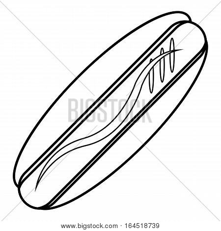 Hot dog icon. Outline illustration of hot dog vector icon for web