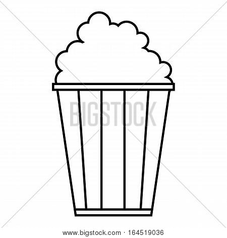Popcorn icon. Outline illustration of popcorn vector icon for web