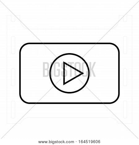 Play film icon. Outline illustration of play film vector icon for web