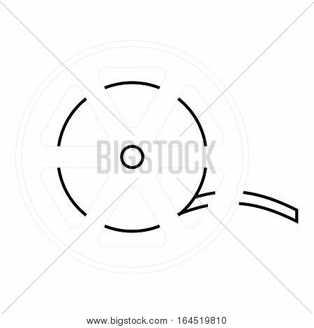 Reel icon. Outline illustration of reel vector icon for web