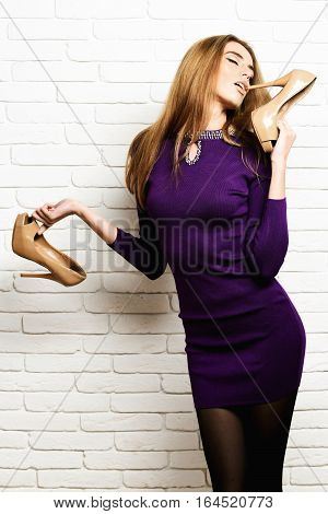 Satisfied Fashionable Sexy Woman