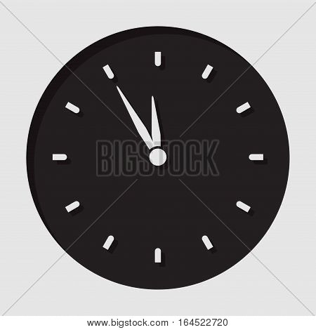 information icon - black circle with white last minute clock and shadow