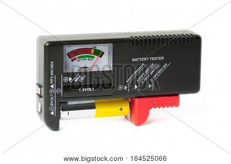 Battery tester (checker) with charged AA battery