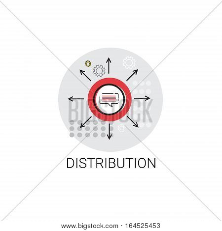 Distribution Logistic Shipping Delivery Service Icon Vector Illustration