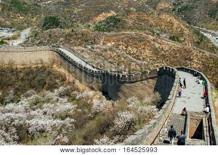 Badaling Section of the Great Wall in China Asia