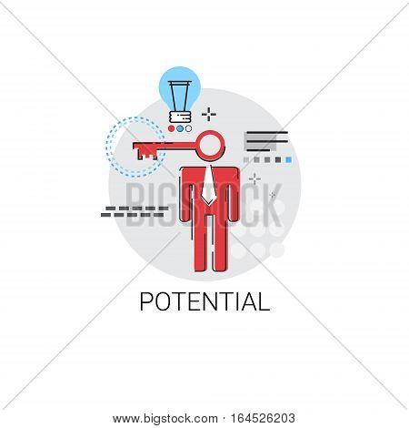 Potential New Creative Idea Business Concept Vector Illustration