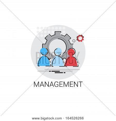 Management Business Team Leadership Icon Vector Illustration