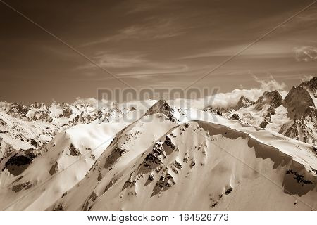 Winter Mountains In Snow
