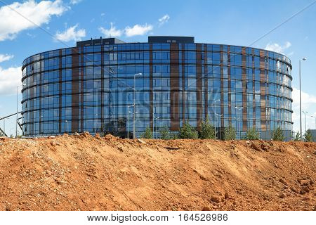 INNOPOLIS KAZAN RUSSIA - JUNE 09 2015: modern office building under construction