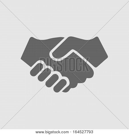 Partnership vector icon. Hands shaking. Handshake. Vector EPS 10.