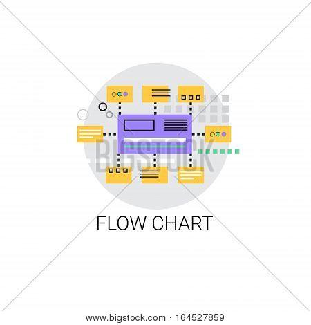 Flow Chart Analysis Concept Data Icon Vector Illustration