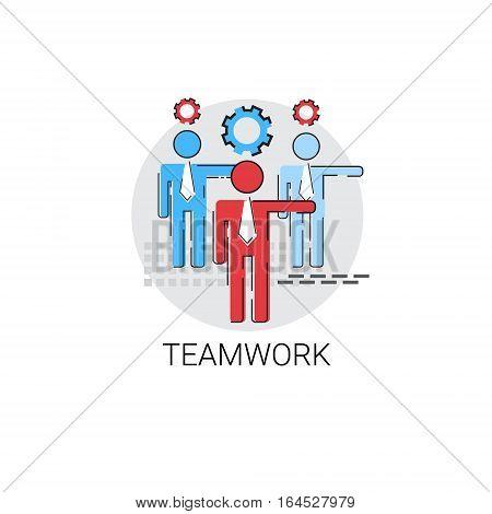 Teamwork Management Business Team Icon Vector Illustration