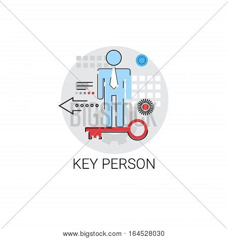 Key Person Worker Potential Business Concept Vector Illustration