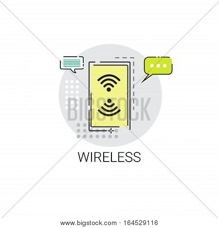 Wifi Signal Icon Free Wireless Connection Icon Vector Illustration