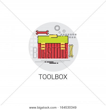 Tool Building Construction Engineering Toolbox Icon Vector Illustration