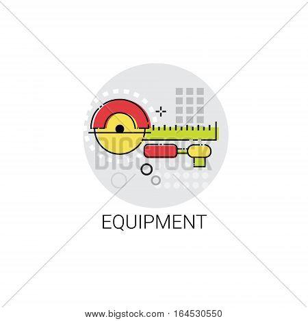 Equipment Tool Building Construction Engineering Toolbox Icon Vector Illustration