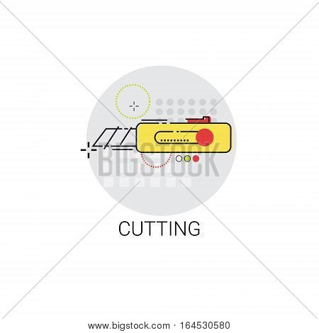 Cutting Tool Building Construction Engineering Toolbox Icon Icon Vector Illustration