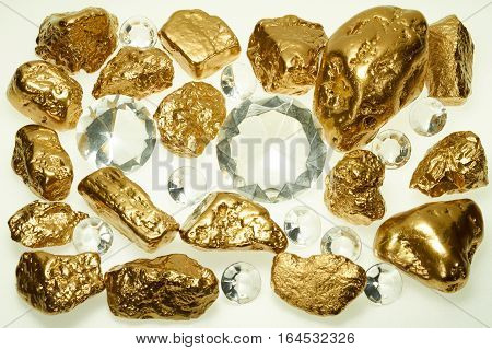 Gold in its origin as gold nuggets.
