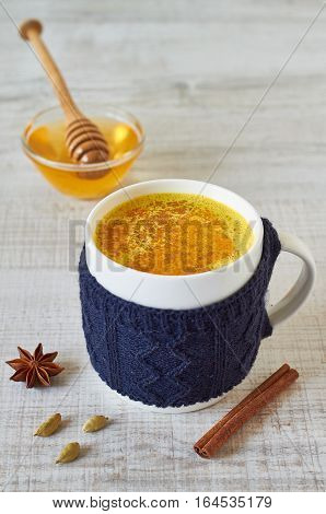 Golden Milk, made with turmeric and other spices