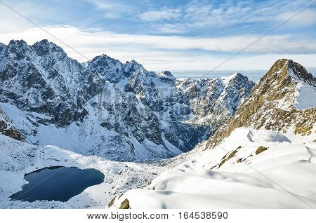 Landscape in Slovak High Tatras. View of Litvorova valley (Litvorova dolina)
