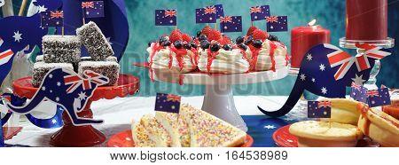 Australia Day Party Table Social Media Banner