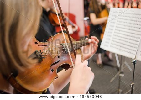 Music School for Girls on the violin