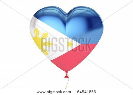 Balloons with flag of Philippines holiday concept. 3D rendering