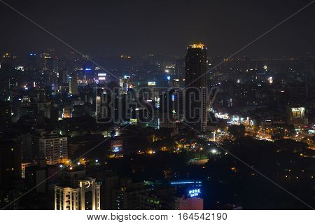 Aerial view of Kaohsiung City special municipality in the Republic of China on Taiwan Asia
