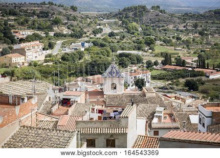 a view over Jérica town, Province of Castellón, Spain