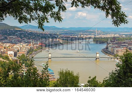 View from the Gellert Hill in Budapest, Hungary