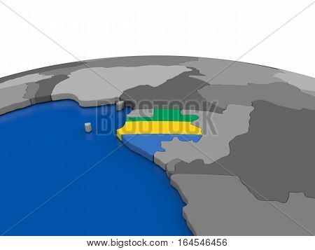 Gabon On 3D Globe