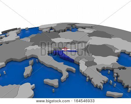 Croatia On 3D Globe