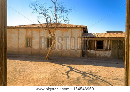 Ruins of the UNESCO World Heritage site of Humberstone Chile