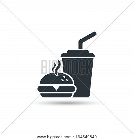 Fast food icon vector isolated simple silhouette illustration.