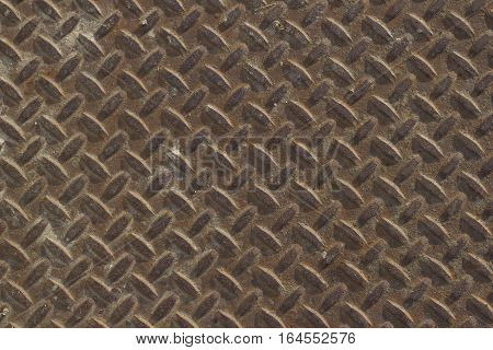 texture of rusty metal with ribs. metal plate