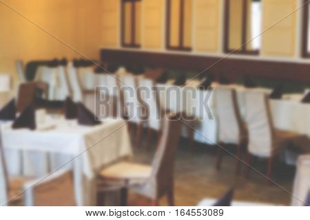 The Interior Of The Cafe, Restaurant, Bistro Without Visitors As An Advertising Background