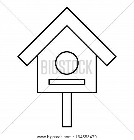 Bird house icon. Outline illustration of bird house vector icon for web
