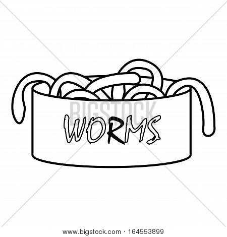 Worms icon. Outline illustration of worms vector icon for web