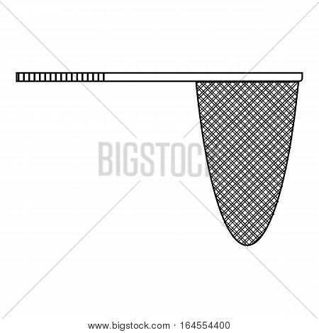Fishing net icon. Outline illustration of fishing net vector icon for web