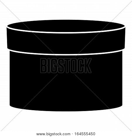 Round box icon. Simple illustration of round box vector icon for web